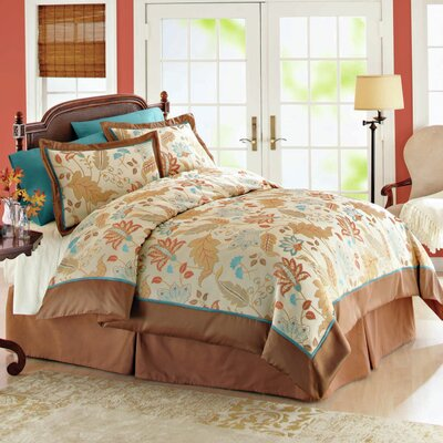 Modern Heirloom Leaf Garden 3 Piece Duvet Cover Set Size: Full
