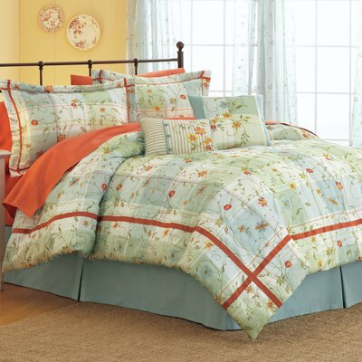 Modern Heirloom Posies and Plaid 3 Piece Duvet Cover Set Size: Full