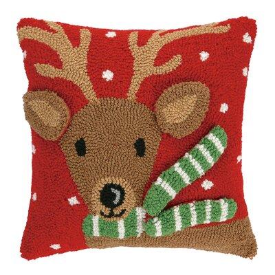 Reindeer 3D Hook Throw Pillow