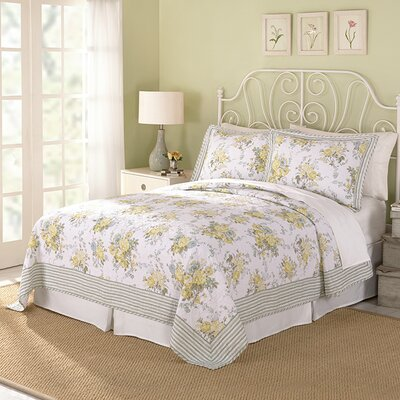 Spring Garden 3 Piece Quilt Set Size: King