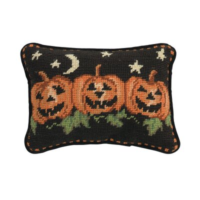 Halloween Needlepoint Lumbar Pillow