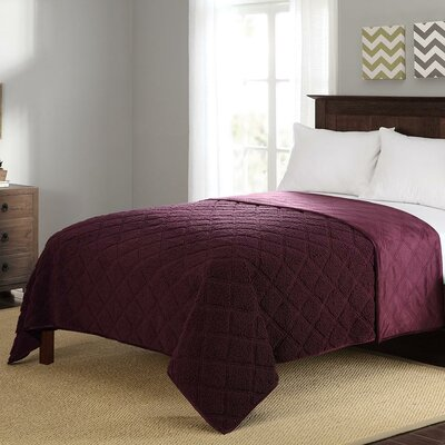Sherpa Full/Queen Blanket Color: Dark Purple