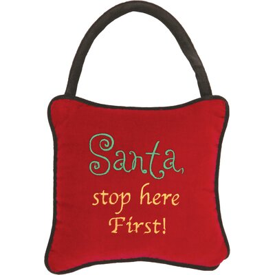 Santa Stop Here Pillow
