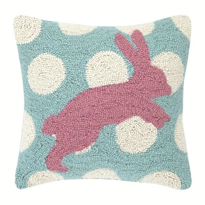 Pink Bunny Throw Pillow