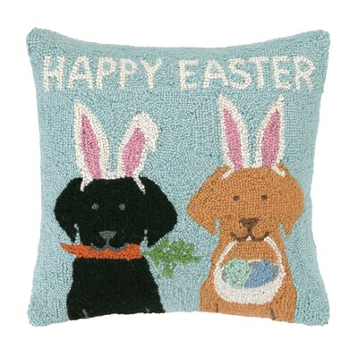 Happy Easter Labs Throw Pillow