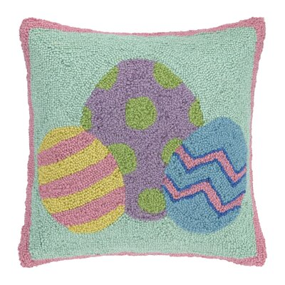 Three Easter Eggs Throw Pillow
