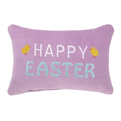 Happy Easter Polyester Throw Pillow