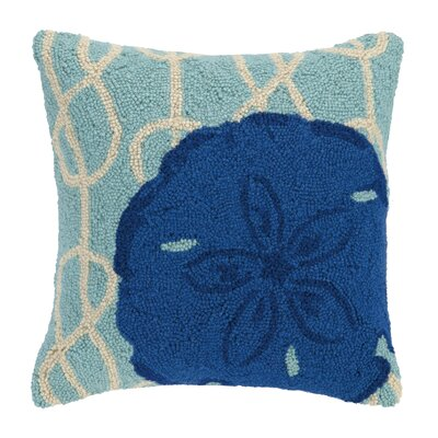 Nautical Knot Sand Dollar Wool Throw Pillow