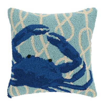 Nautical Knot Crab Wool Throw Pillow