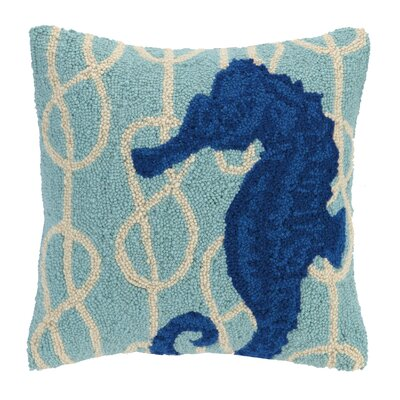 Nautical Knot Seahorse Wool Throw Pillow