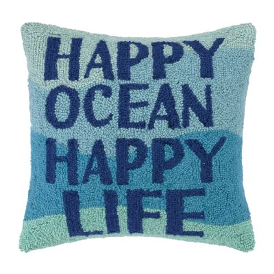Happy Ocean Hook Wool Throw Pillow