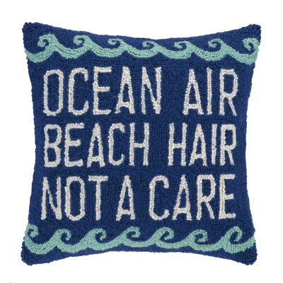 Ocean Air Hook Wool Throw Pillow