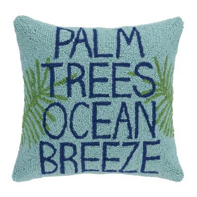 Palm Trees Hook Wool Throw Pillow