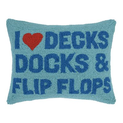I love Decks Hook Wool Lumbar Pillow