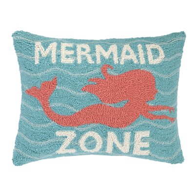 Mermaid Zone Hook Wool Lumbar Pillow