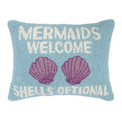 Mermaids Welcome Hook Wool Lumbar Pillow