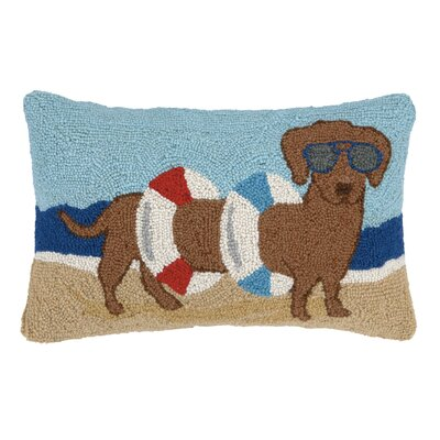 Beach Dog Hook Wool Pillow