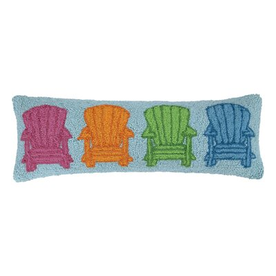 Adirondack Chairs Hook Wool Lumbar Pillow