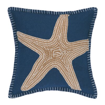Nautical Embroidery Throw Pillow
