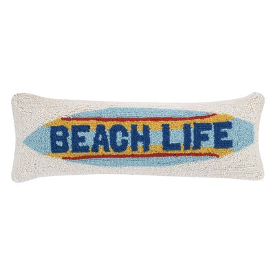 Beach Life Wool Lumbar Pillow