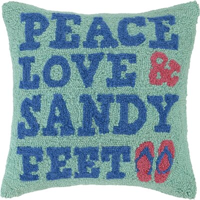 Peace Love Sandy Feet Wool Throw Pillow