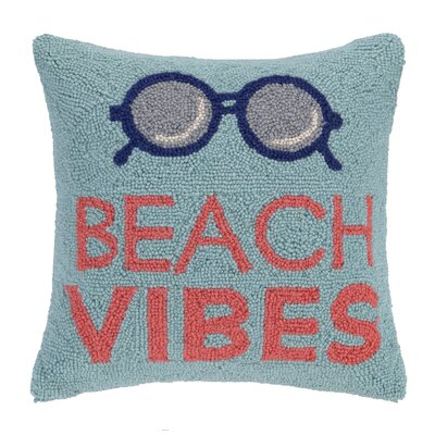 Beach Vibes Wool Throw Pillow