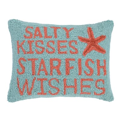 Starfish Wishes Wool Lumbar Pillow