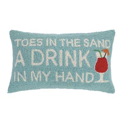 Sand and Drink Wool Lumbar Pillow