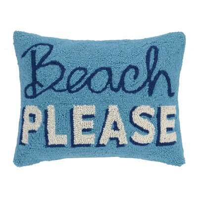 Beach Please Wool Lumbar Pillow