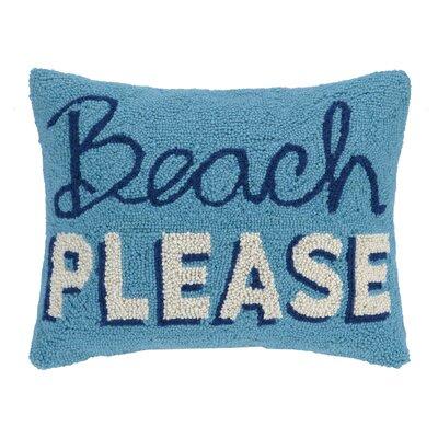 Beach Please Wool Lumbar Pillow