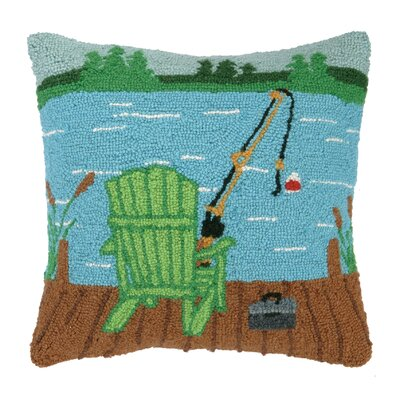 Adirondack Chair Wool Throw Pillow