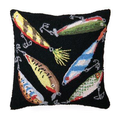 Lures Wool Throw Pillow