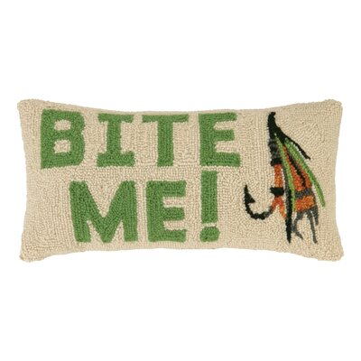 Bite Me Lure Wool Lumbar Pillow