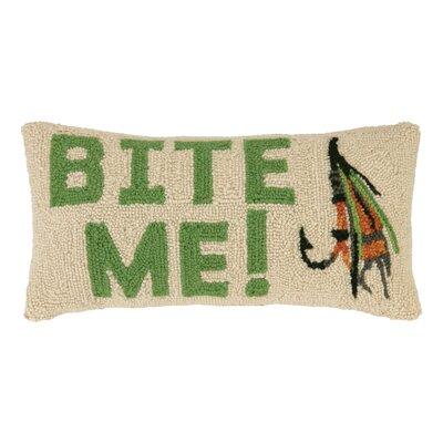 Bite Me Lure Wool Lumbar Pillow
