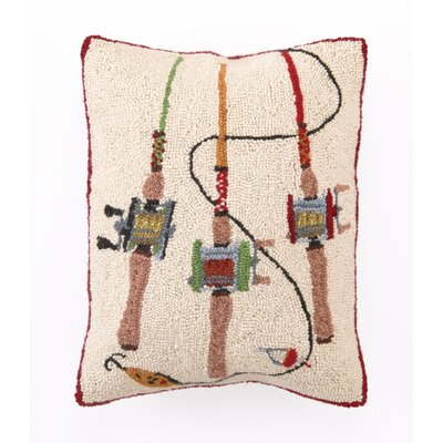 Fishing Rods Wool Throw Pillow