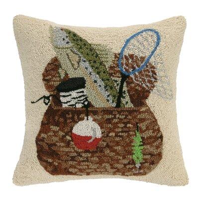 Fishing Basket Wool Throw Pillow