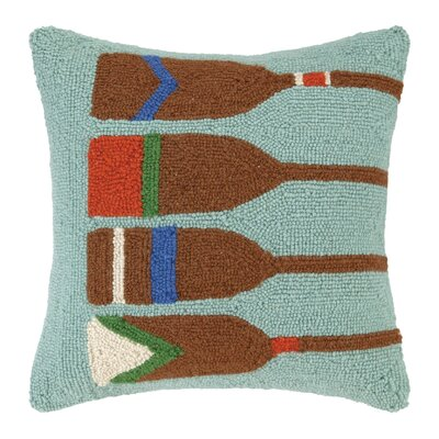 Four Oars Wool Throw Pillow