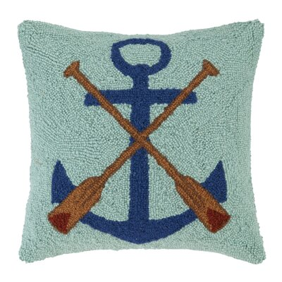 Anchor Oars Wool Throw Pillow
