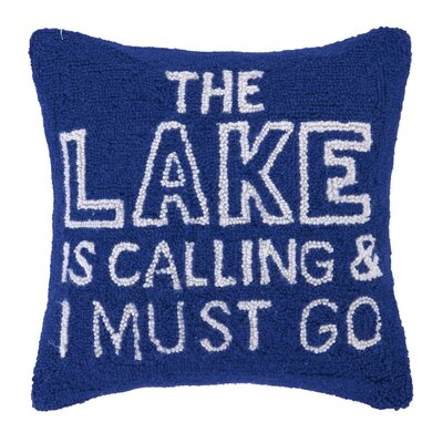 The Lake is Calling Wool Throw Pillow