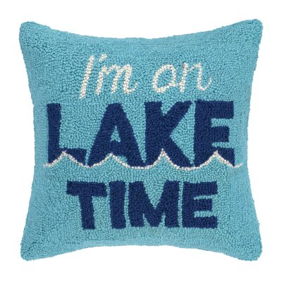 On Lake Time Wool Throw Pillow