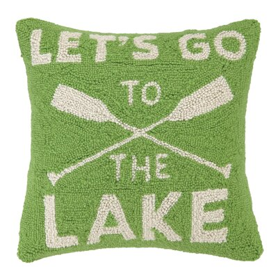 Go to the Lake Wool Throw Pillow