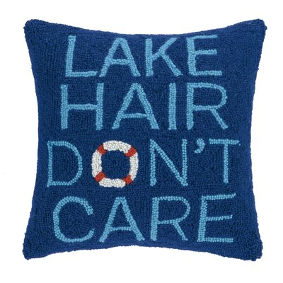 Lake Hair Dont Care Wool Throw Pillow