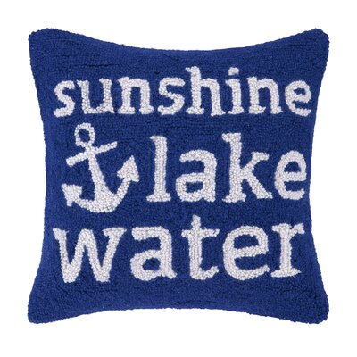 Sunshire Lake Water Wool Throw Pillow
