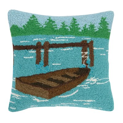 Lake Hook Wool Throw Pillow