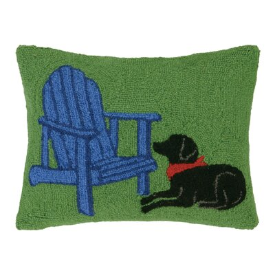 Cabin, Truck, Dog Hook Wool Lumbar Pillow