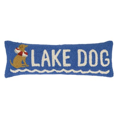 Lake Dog Hook Wool Lumbar Pillow
