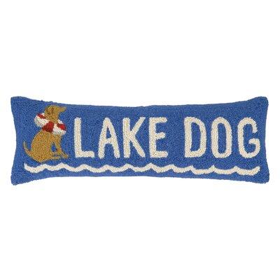 Lake Dog Hook Wool Lumbar Pillow