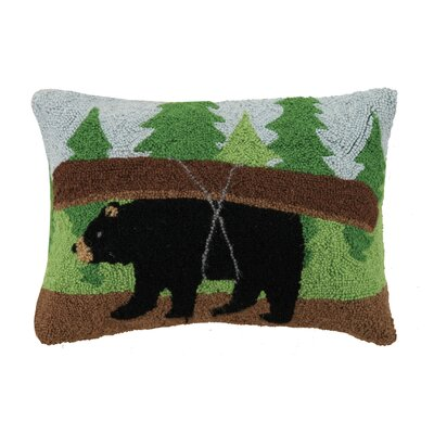 Cabin, Bear, Canoe Hook Wool Lumbar Pillow