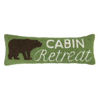 Cabin, Bear, Canoe Hook Wool Pillow