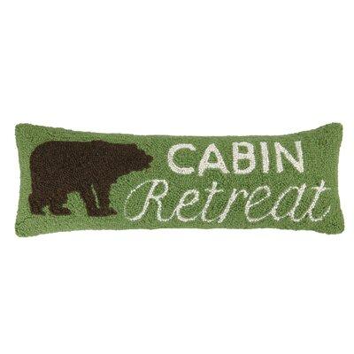 Cabin, Bear, Canoe Hook Wool Pillow